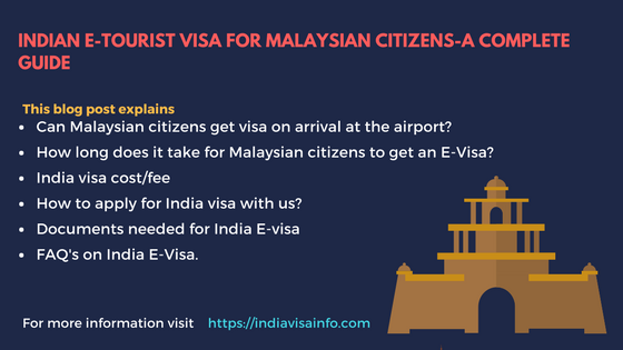 Indian E-tourist visa for Malaysian citizens (2)